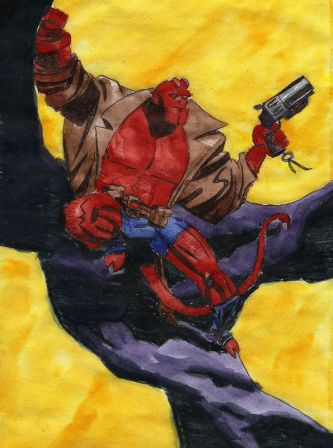 Aquarelle Hellboy